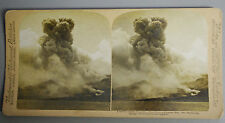 May 1902 Martinique Volcanic Explosion MONT PELEE ERUPTION Stereoview