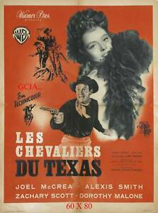 LES CHEVALIERS DU TEXAS -J.McCREA-R.ENRIGHT-1949 -W.B- ON LINEN