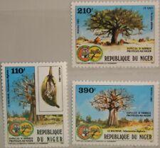 NIGER 1985 953-55 ex 708-13 protected Trees geschützte Bäume Flora MNH