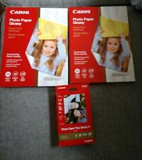 """Canon Photo Paper Lot 200 Sheets Total Glossy (8.5"""" X 11"""") (4"""" X6"""") New Sealed"""