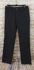 Tommy Hilfiger pants Womens 0 Dark Gray plaid Low-Rise Flare New wool blake F10