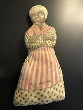 "1918 JEMIMA Cloth Doll 18"" Intact Nice Pancakes Lady Antique Advertising"