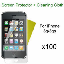 x100 iPhone 3g/3gs screen protectors and cloth wholesale job lot