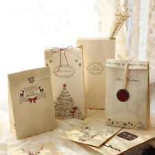 6pcs/lot Merry Christmas Kraft Paper Bag Bake Gift Bags Party Wedding Package