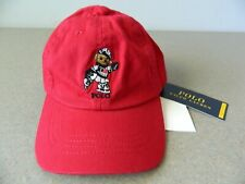 New! Ralph Lauren Toddler Girl's Red Special Edition Bear Cap Hat Size 2T-4T