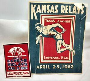 1925 & 1932 Kansas Relays Lawrence Kansas KU Relays Declas