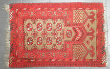 "MODERN GENUINE NORTHERN AFGHAN TURKAMON TRIBAL PRAY RUG CIRCA 1970s 49"" X 30"""