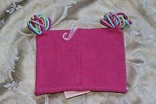 NWT Baby Girls 6-12 M Warm Winter Knit Hat GYMBOREE Pink pom Poms 6-12M