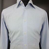 JOOP! Mens Formal Shirt 41 16 (MEDIUM) Long Sleeve Blue Regular Fit Check