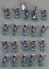 Well Painted  15mm Napoleonic French Line Infantry Greatcoats with Command(20)
