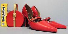 "VERY CUTE MINIATURE PAIR OF HI HEEL SHOES (3 3/4"" long) + the MATCHING PURSE P3"