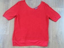 MARKS AND SPENCER PER UNA RED V NECK ACRYLIC & VISCOSE RED JUMPER SIZE 14