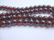 "7mm Natural Garnet Round Semi Precious Gemstone Beads - Half Strand (7.5"")"
