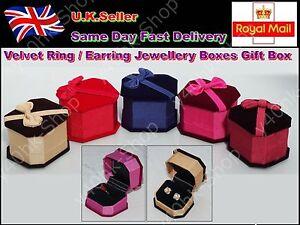 Velvet Ring/Earring Jewellery Boxes Gift Box