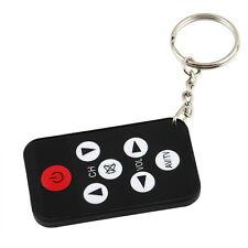Mini Universal Infrared IR TV Set Remote Control Keychain Key Ring 7 Keys FE