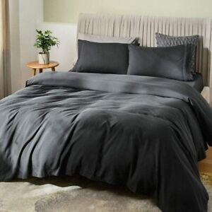 "SONORO KATE Bed Sheet Set Bamboo Sheets Deep Pockets 16"" Eco Friendly Wrinkle Fr"
