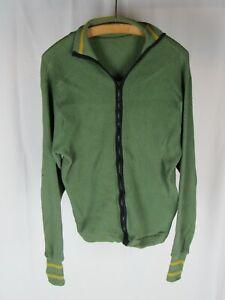 Vtg 1950s 60s Pilgrim Full Zip Thermal Sweatshirt Waffle Knit Sportswear Mod