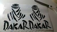 2x Adesivo Sticker DAKAR camel trophy moto casco auto 14x10 pvc ritagliato
