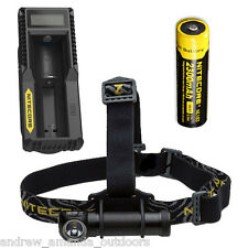 Nitecore HC30 1000 Lumen Headlamp w/NL183 2300mAh Battery & UM10 Charger