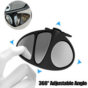 1 Pack 360° Blind Spot Mirror Wide Angle Car Reversing Driving Rearview Mirrors
