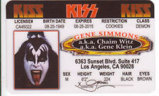 Gene Simmons of KISS Rock Group -beth Identification ID card Drivers License