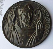 SANCTUS BERNARDUS , MÉDAILLON BRONZE TRÈS ANCIEN
