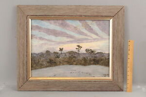 HOWARD R BUTLER American California Sunset Impressionist Landscape Painting, NR
