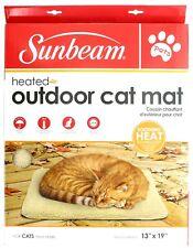 "Sunbeam Heated Outdoor Cat Mat Weather Proof 120V 13"" x 19"""