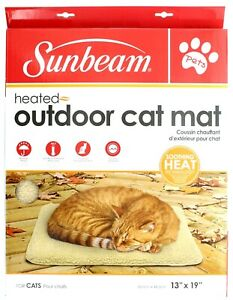 "Sunbeam Heated Outdoor Cat Mat Weather Proof 120V 13"" x 19"""