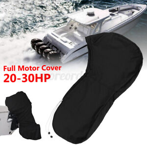 600D Waterproof Outboard Motor Full Cover Fit 20-30HP Engine Boat UV