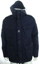 RALPH LAUREN MEN'S NAVY GARRISON COMBAT HOODED COAT QUILTED JACKET SZ L RRP £389