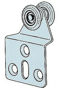 Omge cf 4 pz di carrelli a 2 ruote in nylon per porte scorrevoli Ø 15 mm