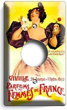 PARIS PERFUME VITAGE RETRO POSTER AC OUTLET WALL PLATE COVER BEAUTY SALON DECOR