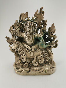 VISVABHUJ AUS TIBET, Buddha Statue, FUNDZUSTAND, Buddhismus 18 cm [C32606]