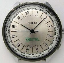 Raketa 24 hours, world time, cal.2623