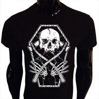 Reaper Skull T-Shirt S-5XL SCREENPRINTED Mens Goth Punk Rock Metal Scythe