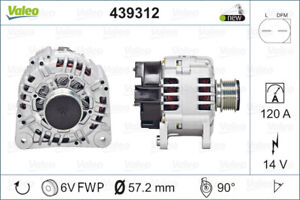 Valeo Alternator 439312 fits Volkswagen Touareg 3.2 V6 (7L) 162kw