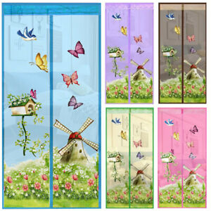 Magnetic Door Curtain Net Screen Anti Insect Mosquito Fly Mesh Guard 90*210CM