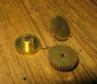 3 SLOT CAR GEARS 33T  64P  3/32 AXLE LITE BRASS NEW SPUR GEARS 1/32 & 1/24  id#2