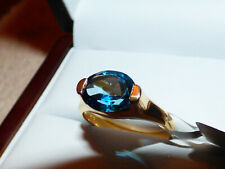 London Blue Topaz Ring  3.19ct stone