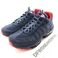 Nike Air Max 95 Men's 8.5 Premium Blue Red Shoes  BV1255-400 New
