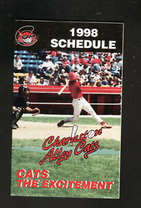 Charleston Alley Cats--1998 Pocket Schedule--Toyota--Reds Affiliate