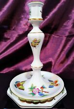 HEREND QUEEN VICTORIA / VBO CANDLE HOLDER, hand painted porcelain