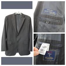 Brooks Brothers 1818 Regent Italy charcoal striped wool Blazer Jacket 41R/ W35