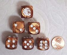 DICE>CHX CUSTOM *CHIMPANZEE*- WHITE CHIMP IS #1 & WHITE PIPS ON SIDES 2-6>>SALE!