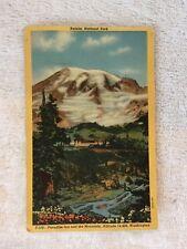 Rainier National Park, Washington, WA, Paradise Inn, 1940 Vintage Postcard b7275