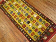 Turkish Konya Oushak Ushak Rug Size 2'1''x5'3'' Made With Old Wool
