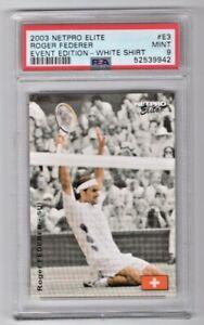 2003 Netpro Elite Tennis Roger Federer Event Edition White Shirt RC #E3 PSA 9