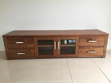 Local Made Solid Tasmanian Blackwood Brighton Lowline Tv Entertainment Unit