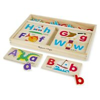 Melissa And Doug Classic Wooden ABC Picture Boards Set NEW Traditional Toys